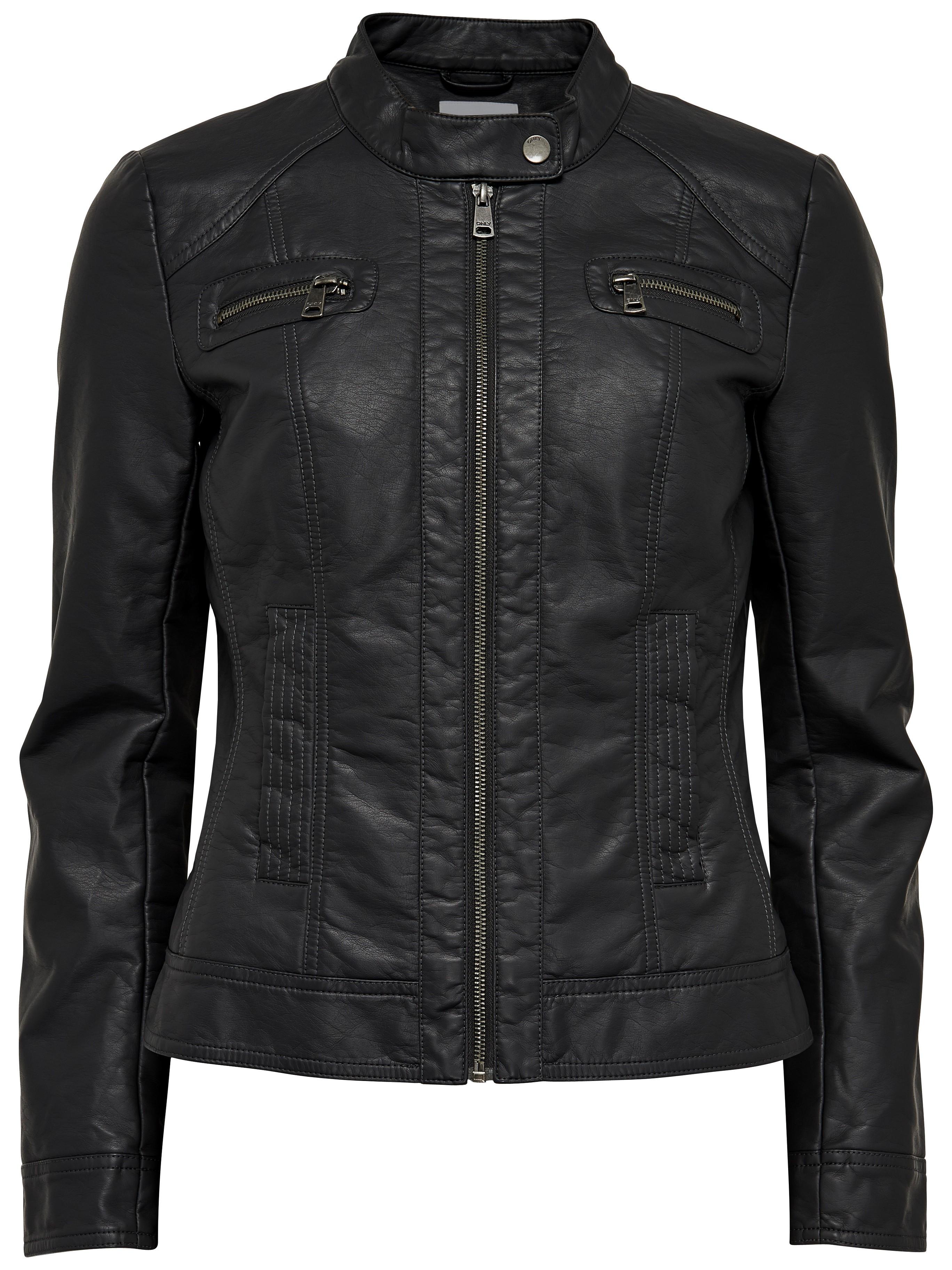 only damen lederjacke jacke bandit pu biker black schwarz. Black Bedroom Furniture Sets. Home Design Ideas