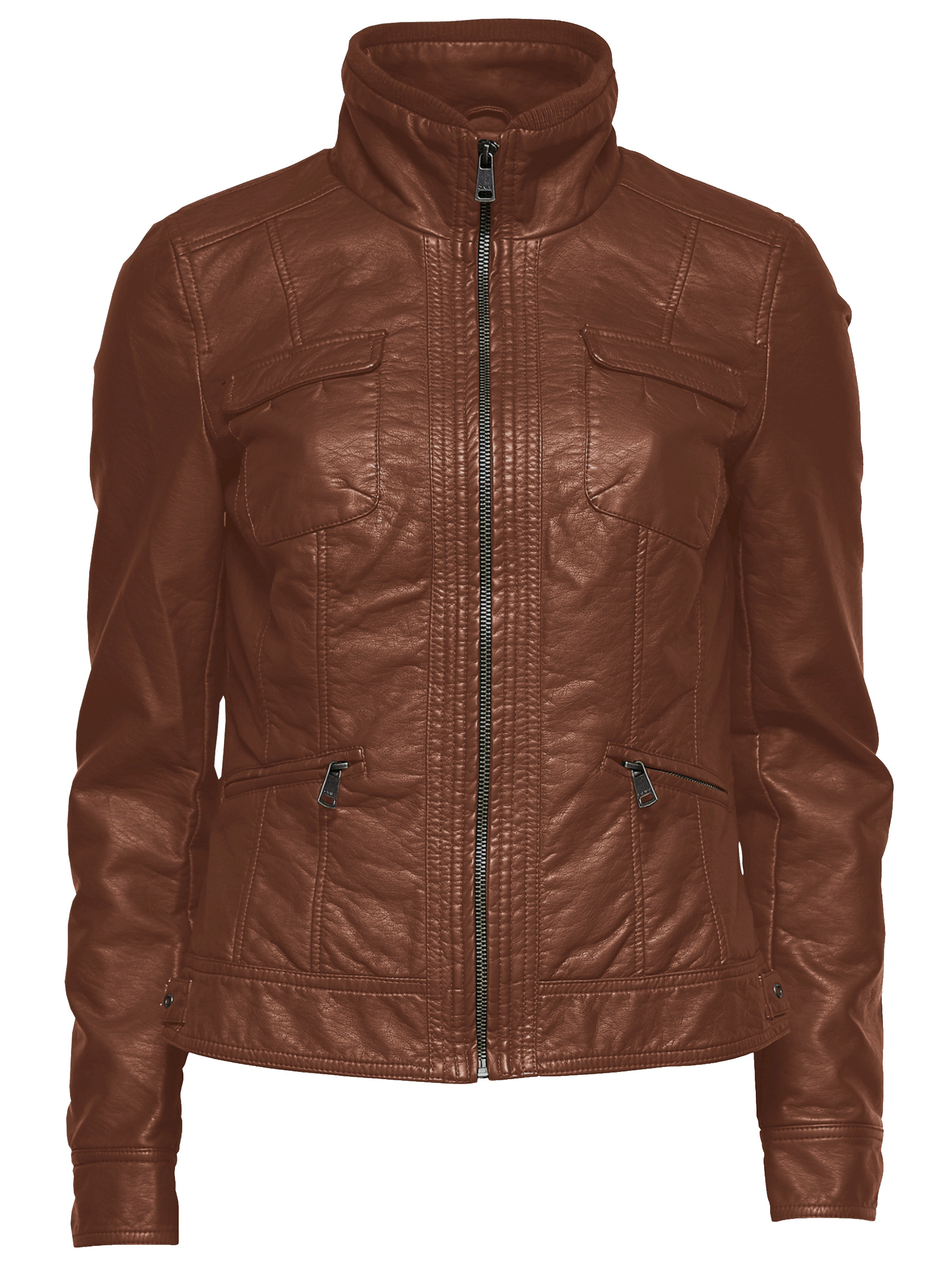only damen lederjacke biker jacke new lion pu jacket. Black Bedroom Furniture Sets. Home Design Ideas