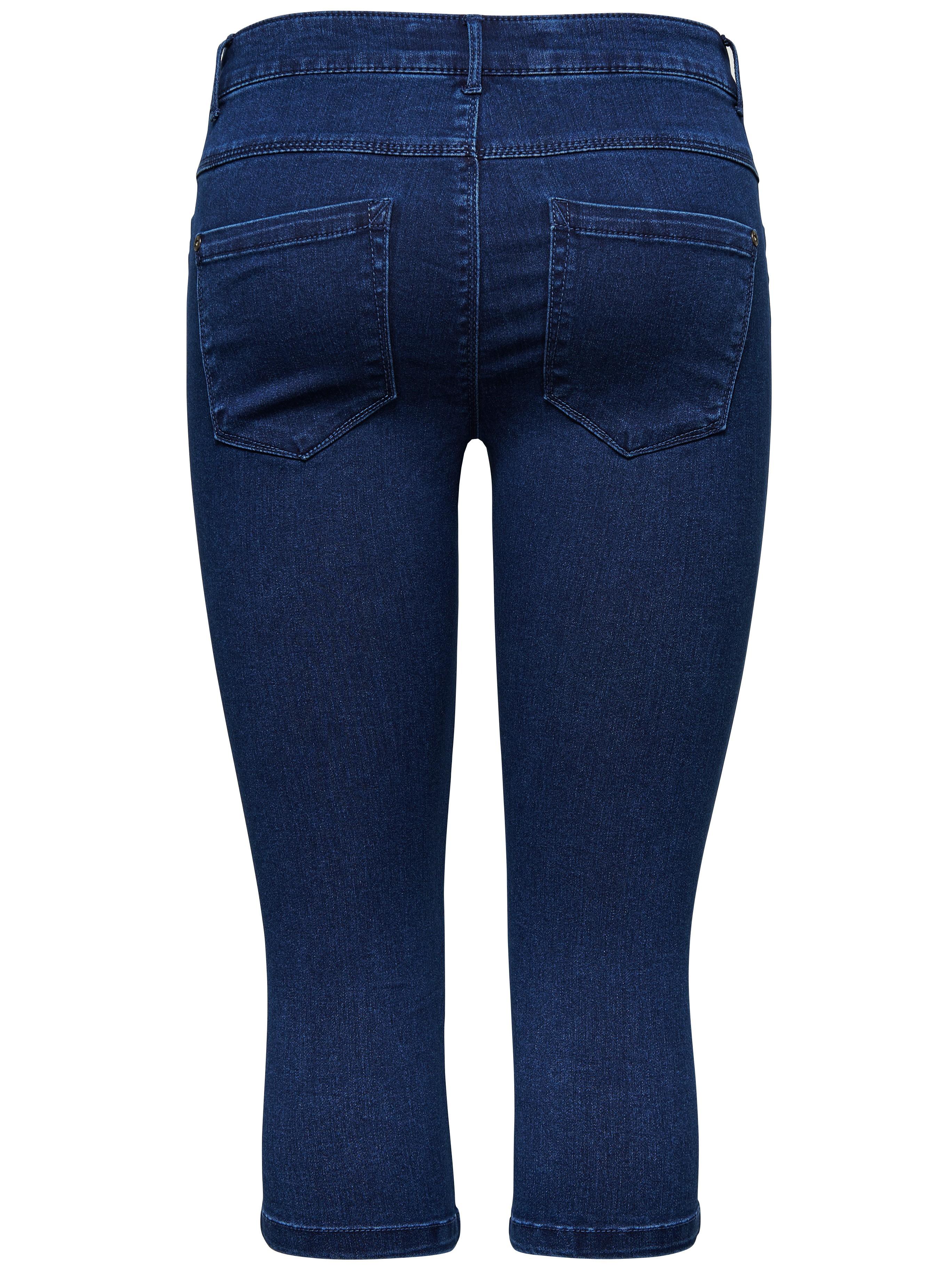 only damen 3 4 capri jeans hose royal reg skinny knickers noos schwarz. Black Bedroom Furniture Sets. Home Design Ideas